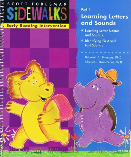 Sidewalks, Early Reading Intervention, Part 1, Learning Letters and Sounds: Pearson