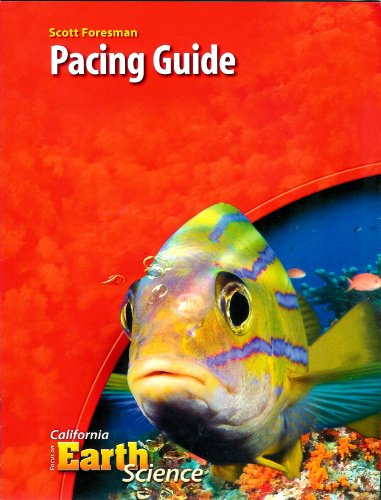9780328261956: Scott Foresman Pacing Guide, Grade 6 (California Focus on Earth Science)