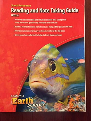 9780328261963: Scott Foresman Reading and Note Taking Guide, Level A, Grade 6 (California Focus on Earth Science)
