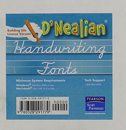 9780328262366: DNEALIAN HANDWRITING 2008 DNEALIAN FONTS CD ROM GRADE K/5