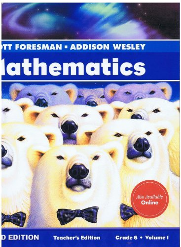9780328263943: Scott Foresman-Addison Wesley Mathematics, Diamond Edition, Grade 6, Volume 1, Teacher's Edition