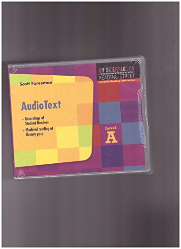 9780328270583: READING 2008 SIDEWALKS FOR READING INTERVENTION AUDIO TEXT AUDIO CD PACKAGE GRADE 1
