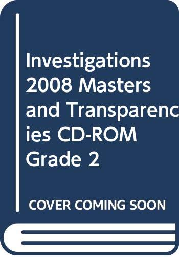 9780328275908: INVESTIGATIONS 2008 MASTERS AND TRANSPARENCIES CD-ROM GRADE 2