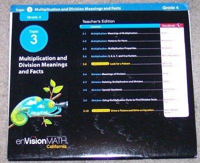 9780328280964: Teacher's Edition Grade 4 Topic 3 (Envision Math, California)