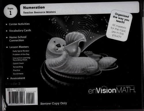9780328284207: enVisionMATH - Topic 1 - Grade 3 - Numeration - teacher resource masters, review copy.
