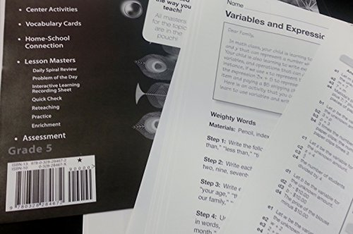 9780328284672: EnVision Math, Grade 5, Teacher Resource Masters, Topic 6 Variables and Expressions (Scott Foresman en Vision Math)