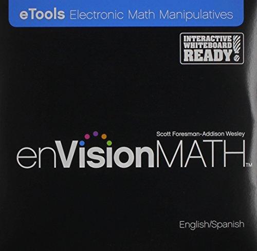 9780328306084: Envisionmath, eTools Electronic Math Manipulatives (English and Spanish Edition)