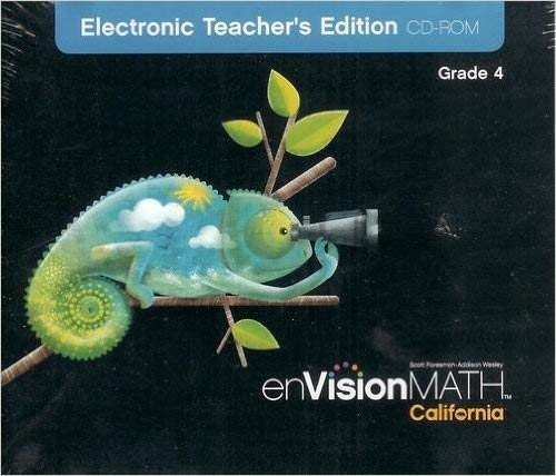 9780328307692: enVisionMATH CA Electronic Teacher's Edition CD-ROM Grade 4