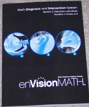 9780328311224: Booklet G: Operations with Whole Numbers in Grades 4-6 (enVision Math, Math Diagnosis and Intervention System)