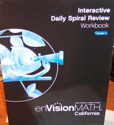 9780328340422: Interactive Daily Spiral Review Workbook Grade 4 (enVision Math, California)