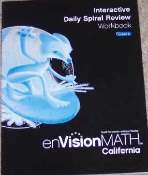 9780328340446: Interactive Daily Spiral Review Workbook Grade 6 (enVision Math)
