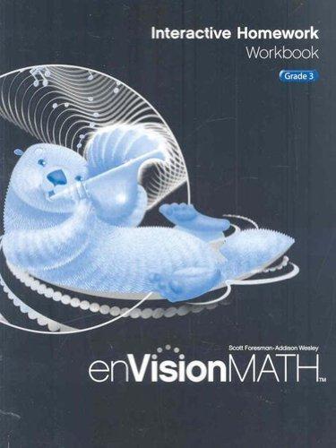 9780328341764: Envision Math: Interactive Homework Workbook, Grade 3
