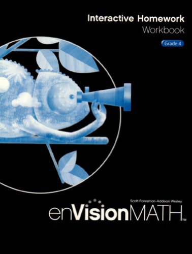 9780328341771: EnVision Math 2009 Interactive Homework Workbook, Grade 4