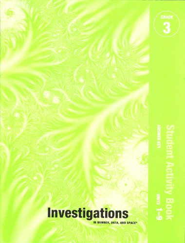 9780328376605: Investigations in number, data, and space - Grade 3 - Student Activity Book - Answer Key - Units 1-9