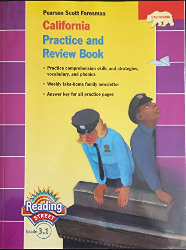 9780328382750: Pearson Scott Foresman California Practice and Review Book (Pearson Reading Street, Grade 3.1)