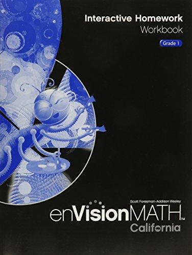 Envision Math Interactive Homework Workbook Grade 1: WESLEY, SCOTT fORESMAN-ADDISON