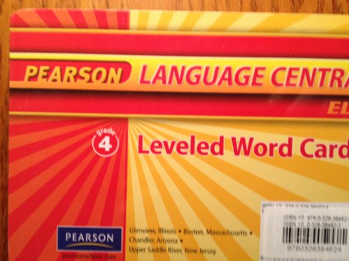 9780328384624: Leveled Word Cards, Grade 4 (Pearson Language Central, ELD)