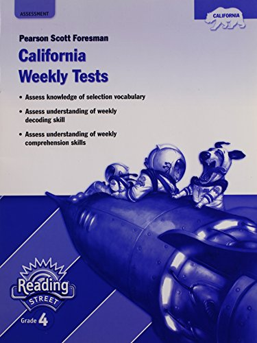 9780328392773: Pearson Scott Foresman California Weekly Tests (Pearson California Reading Street, Grade 4)