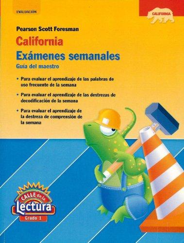 9780328410262: Examenes semanales; Guia del maestro; Calle de la Lectura; Grado 1 (California)