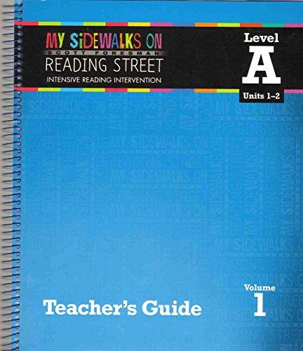 9780328453399: SCOTT FORESMAN MY SIDEWALKS ON READING STREET Intensive Reading Intervention Level a Units 1-2