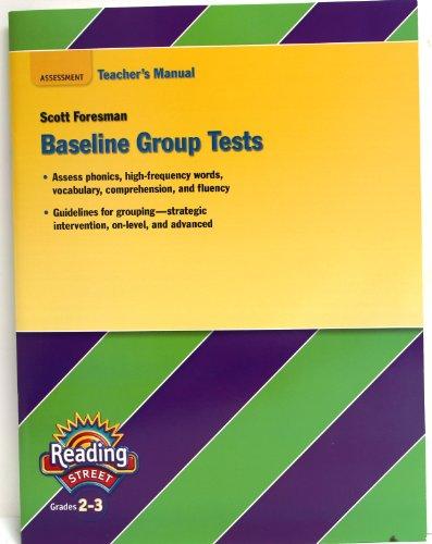 9780328484737: Assessment Teacher's Manual Baseline Group Test, Reading Street Grades 2-3