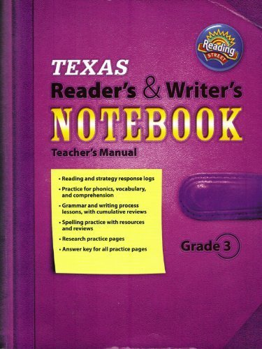 9780328495740: Texas Reader's & Writer's Notebook Teacher's Manual Reading Street Grade 3 (Review Copy)