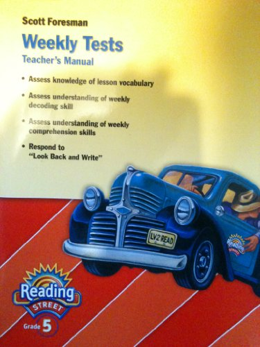 9780328508877: Reading Street, Grade 5, Weekly Tests, Teacher's Manual