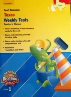 9780328508945: Reading Street Grade 1 Texas Weekly Tests teacher's manual