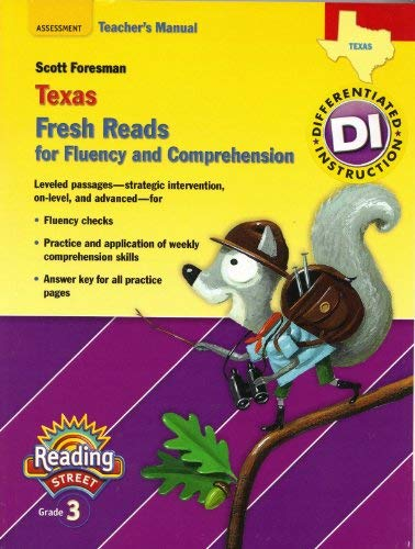 9780328509065: Texas Fresh Reads for Fluency and Comprehension Teacher's Manual Reading Street Grade 3