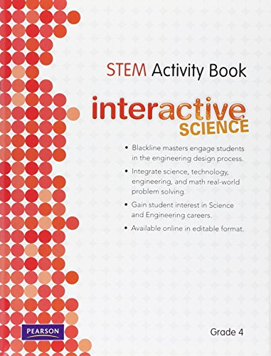 9780328521029: SCIENCE 2012 SCIENCE TECHNOLOGY ENGINEERING AND MATH ACTIVITY BOOK GRADE4