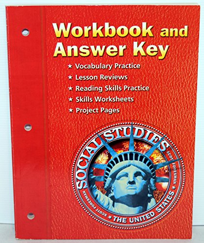 9780328522552: Workbook and Answer Key Scott Foresman Social Studies The United States ISBN 0328522554 / 9780328522552