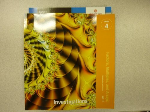 teacher's guide factors, multiples and arrays, Investigations in Number, Data, and Space. ...