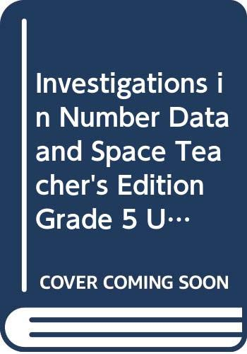 9780328600427: Investigations in Number, Data & Space, Grade 5, Unit 5: Measuring Polygons, Teacher's Guide