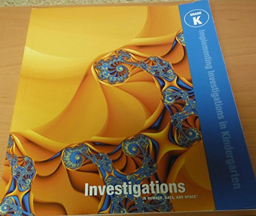 9780328602148: Investigations in Number, Data and Space Implementing Investigations in Kindergarten