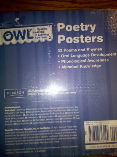 9780328613144: Owl Poetry Posters (Opening the World of Learning)
