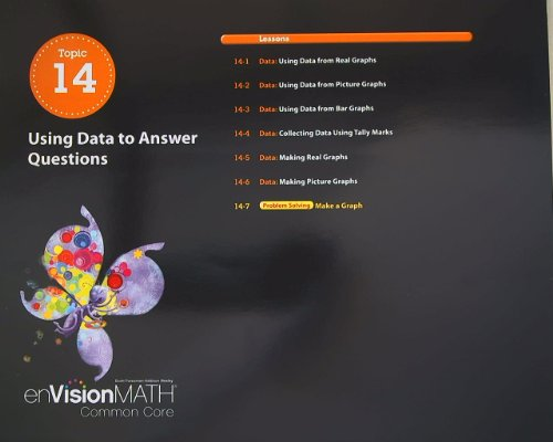 9780328673520: enVision Math, Common Core, Grade 1 Topic 14, using Data to Answer Questions (2012-05-03)