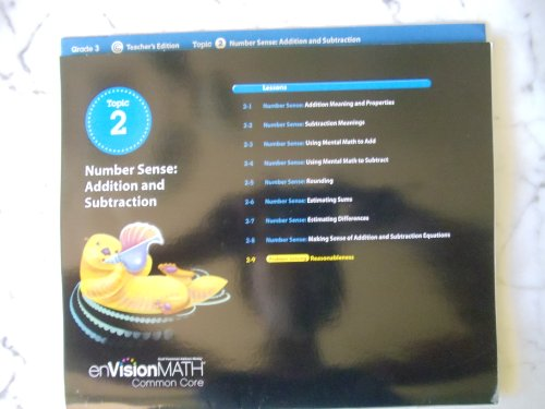 9780328673728: enVisionMATH Common Core/ Topic 2 Number Sense: Addition and Subtraction/ Grade 3 Teacher's Edition