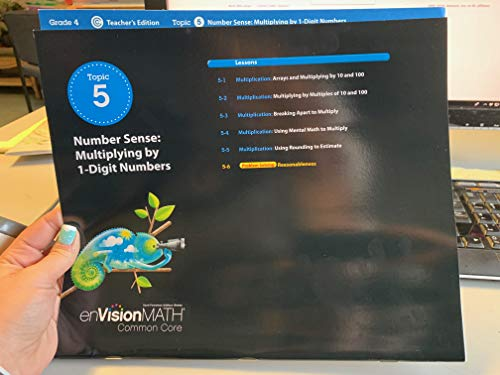 9780328673919: enVision MATH Common Core Grade 4 Topic 5 Teacher's Edition Number Sense: Multiplying by 1-Digit Numbers