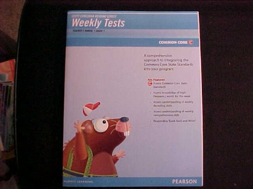 Reading Street Weekly Tests Teacher's Manual Grade: Scott Foresman