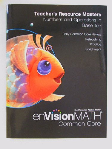 9780328687749: EnVisionMath Common Core, Grade K: Teacher's Resource Maters, Numbers and Operations in Base Ten