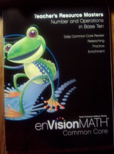 9780328687824: Envision Math: Teacher's Resource Masters- Number and Operation in Base Ten