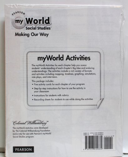 9780328694884: Pearson My World Social Studies Making Our Way - Activity Card Set