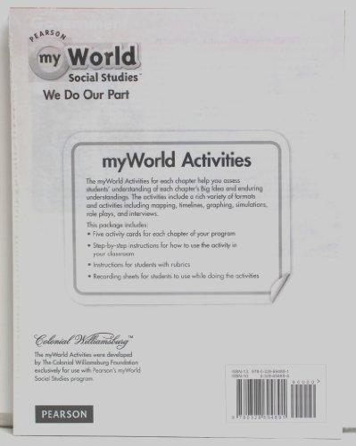 Pearson myWorld Social Studies - We Do Our Part - Activity Card Bundle Grade 2: Pearson