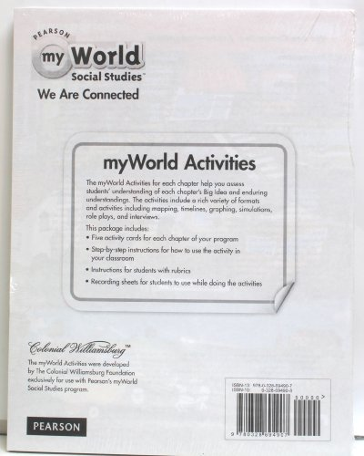 9780328694907: Pearson My World Social Studies We Are Connected - Grade 3 Activity Card Set