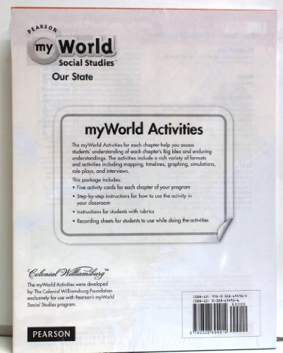 9780328694914: Pearson My World Social Studies - Our State - myWorld Activities Bundle