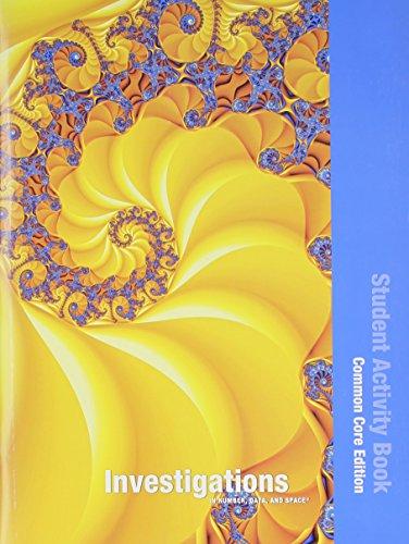 INVESTIGATIONS 2012 COMMON CORE STUDENT ACTIVITY BOOK: Scott Foresman