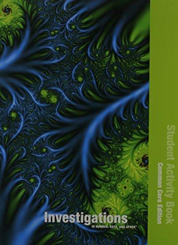 9780328697540: INVESTIGATIONS 2012 COMMON CORE STUDENT ACTIVITY BOOK SINGLE VOLUME ED GRADE 3