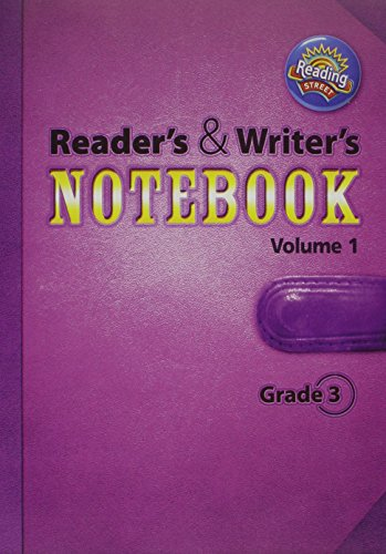 9780328700882: READING 2011 INTERNATIONAL EDITION READERS AND WRITERS NOTEBOOK GRADE 3 VOLUME 1