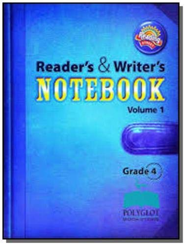 9780328700905: Reading 2011 International Edition Readers and Writers Notebook Grade 4 Volume 1