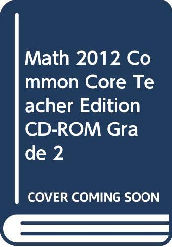 9780328702510: enVision Math 2012 Common Core Teacher Edition Cd-rom Grade 2